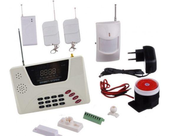 GSM сигнализация для дома с датчиками, беспроводная.