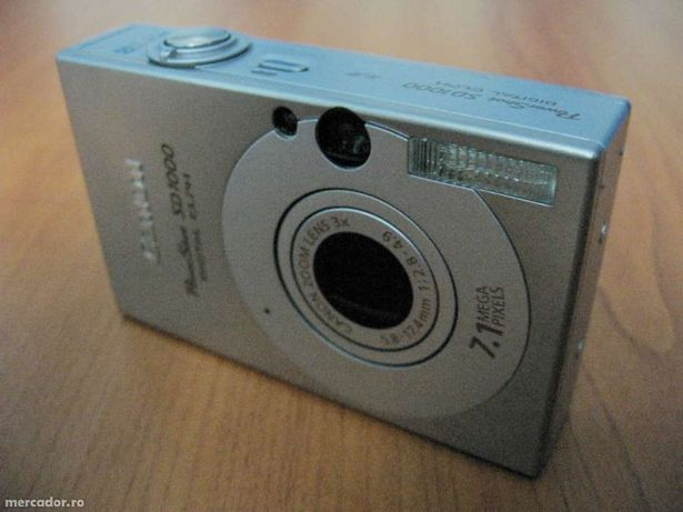 Camera Canon PowerShot SD1000 (Ixus 70) made in Japan