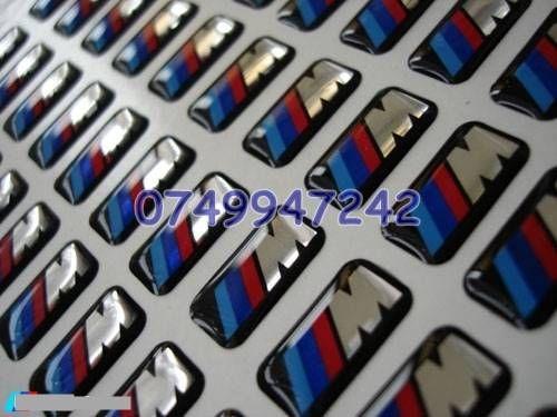 Sticker/logo BMW ///M siliconata 3D 4 Bucati