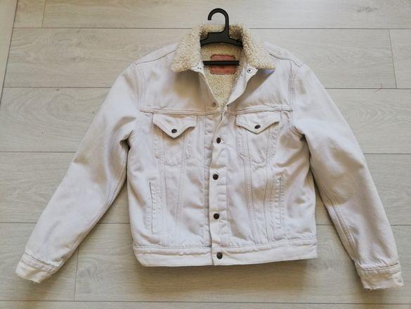 Зимно мъжко яке - дънково с вълнена подплата