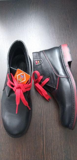 Ботинки демисезонные Тифлани из чистой кожи, 32 размер