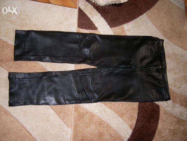 Pantaloni piele motociclist