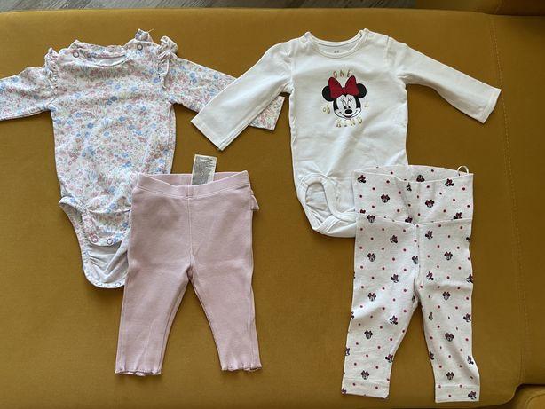Set 2 costumase H&M body si pantaloni fetita-marimea 62