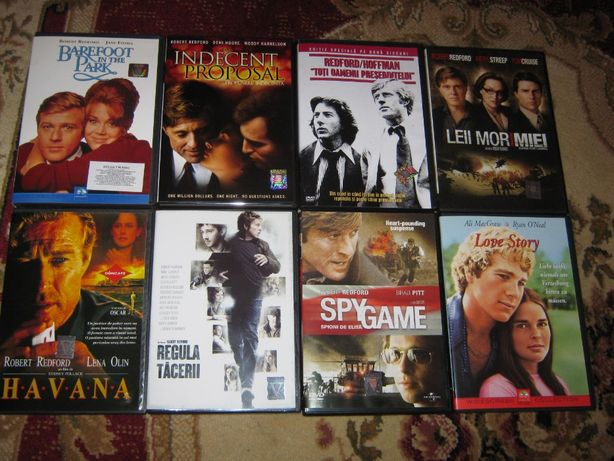 ROBERT REDFORD,18 DVD,ORIGINALE,filme de OSCAR,romana,calitate super