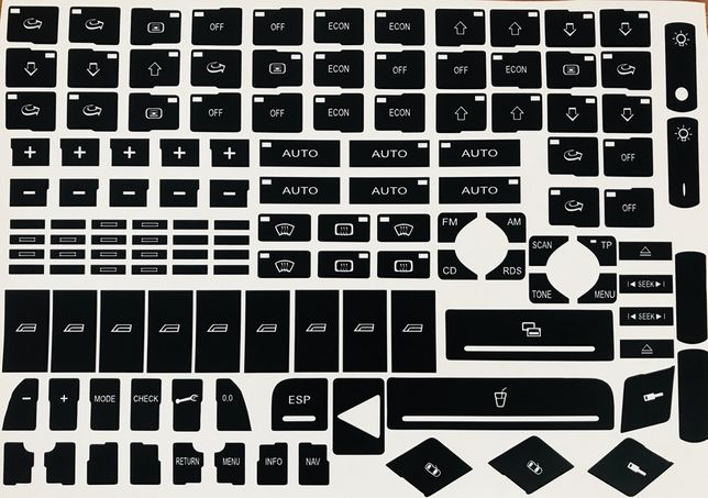 Stickere reconditionare butoane pentru Audi A4 B6-B7