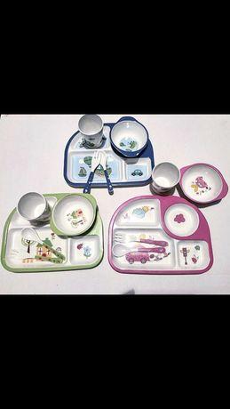 Детский бамбуковый набор посуда
