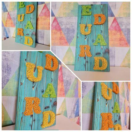 Tablouri personalizate copii/String Art/litere decorative
