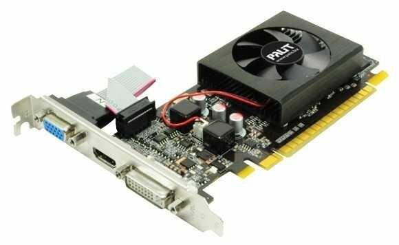 Новые видеокарты GeForce GT 210 DVI, VGA, HDMI