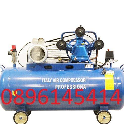 Компресор за въздух с три глави 100 литра - усилен дебит (480 л/мин.)