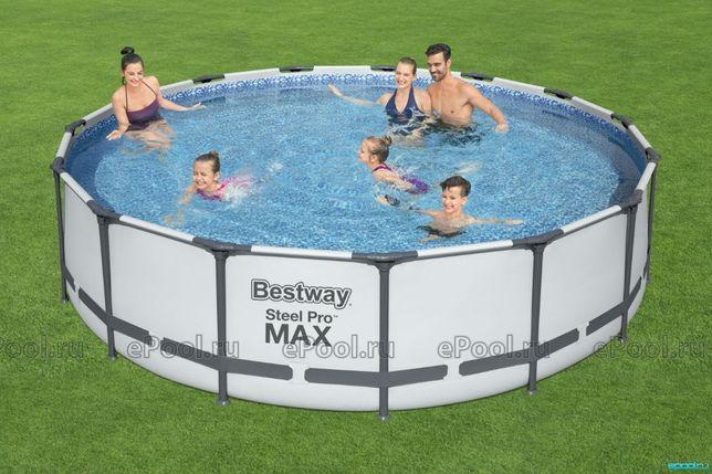 Каркасный бассейн 366 х 122 см с фильтр-насосом, лестницей и крышкой!