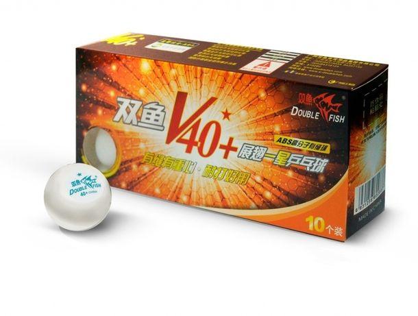 Мячи для настольного тенниса DOUBLE FISH 40+ 1*, 10 мячей в упак