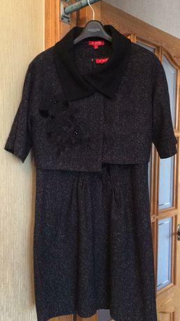 Тёплое платье со съемным болеро