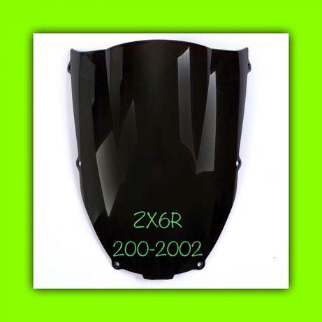 PARBRIZ Fumuriu Kawasaki ZX6R 2000-2002 ZZR600 05-09 NegruPB026