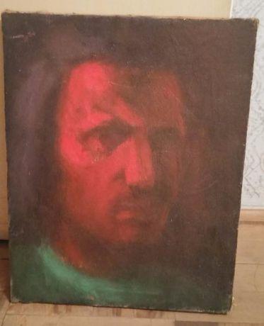 Vand tablou ulei pe panza anii 1970 Tsets Emanuel - Cap de barbat
