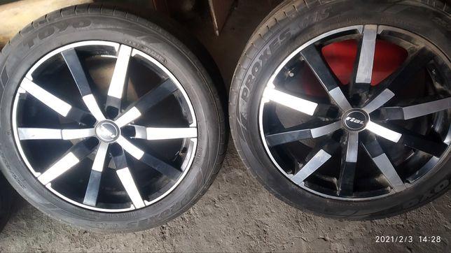 Диски ET J8 с резиной на Mercedes .Audi А8. и на мн.др. 255/45 R18
