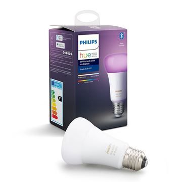 Bec LED Philips Hue BT 9W E27 A19 White and Color Ambiance PS03737