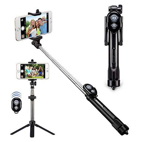 Селфи стик с поставка (трипод) и Дистанционно (Bluetooth) Selfie Stick