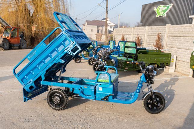 NOU-Triciclu electric cu bena basculabila produs RO-marca MoveEco