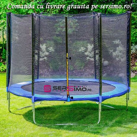 Trambulina Sersimo, cu plasa de protectie exterioara, 305 cm