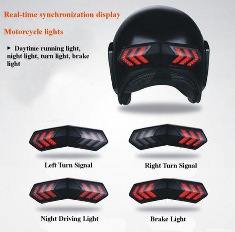 Kit de lumina pentru casca moto semnalizare, frână, avarii