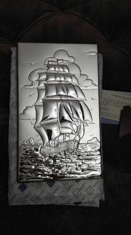 Tablou placat cu argint pe lemn