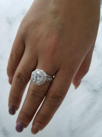 Inel argint cu pietre zirconiu- marime 9