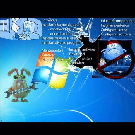 Instalez Windows 10/8/7/XP Mac OSX Service IT  Pret 80 lei