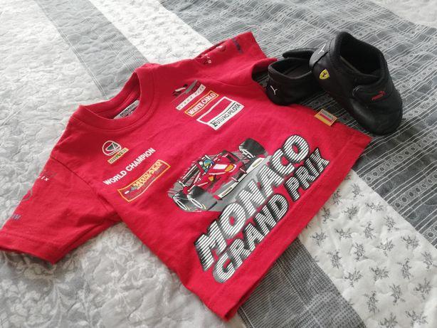 Set copii tricou Racer F1 Monaco Grand Prix/adidasi Ferrari Puma
