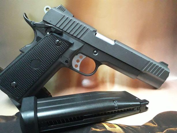 PISTOL AIRSOFT Colt1911 Full Metal putere mare CADOU cutie Co2 BILE