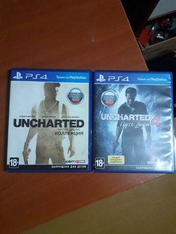 Продам игры на пс4 Uncharted ,Doom,Battlefield4