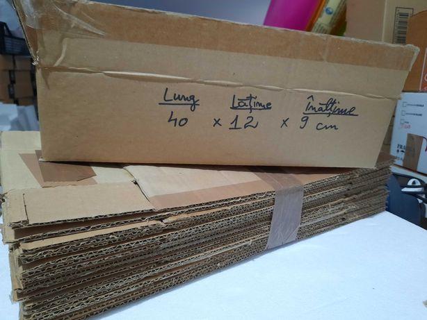 Cutie-Cutii carton ondulat*40x12x9*ambalat-colete*livrare curier+posta