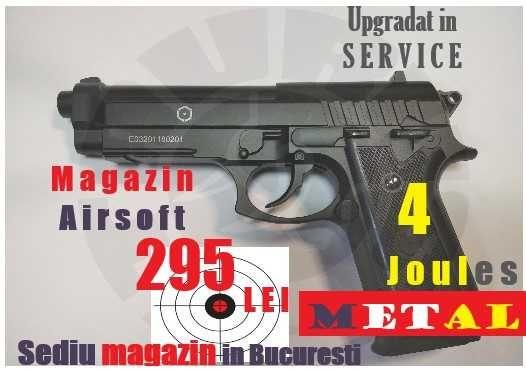 Pistolul A I R S O F T Taurus Beretta upgradat 4Joules CO2