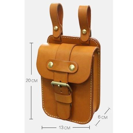 шаблон за мъжка чанта за колан, кръст кожарска, сарашка кройка, Белгия