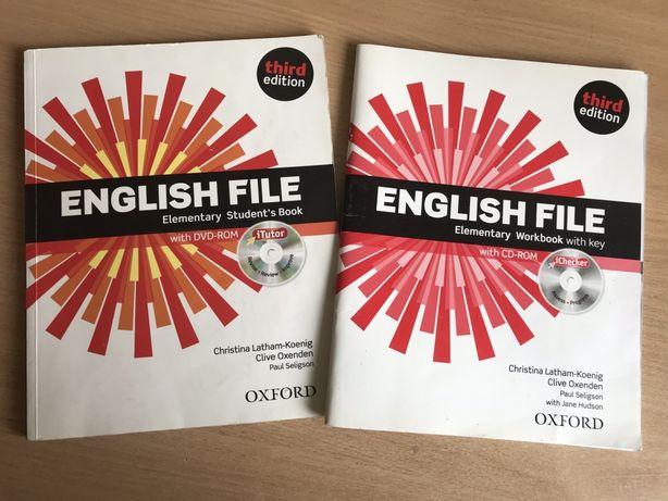 Учебник, тетрадь и диск по английскому языку English File