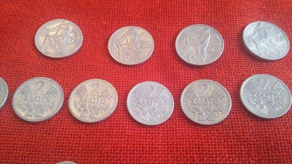 Полски монети, 65 броя, емисии от 1949г. до 1975г., много запазени