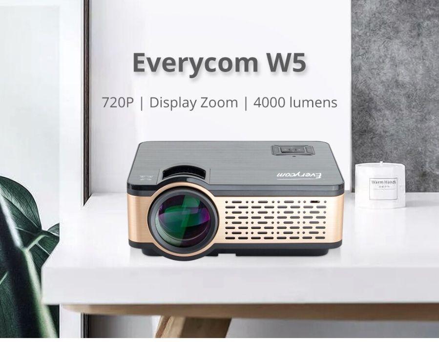 ANIMABG HD мултимедиен LED проектор с WiFi 1280x720dpi
