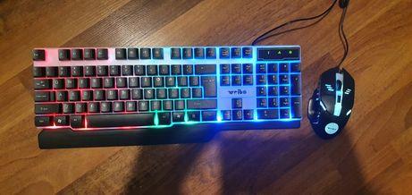 Kit gaming mouse mousepad tastatura RGB gaming  weibo