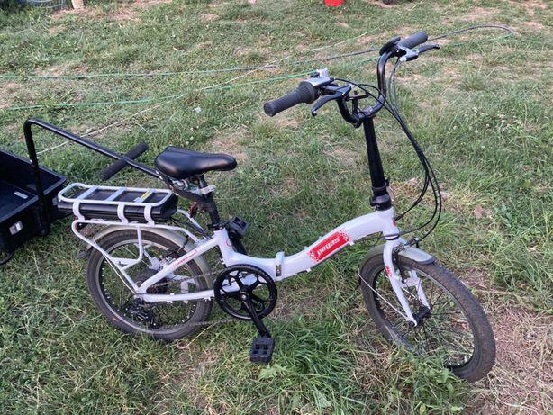 Bicicleta pegas electrica pliabila