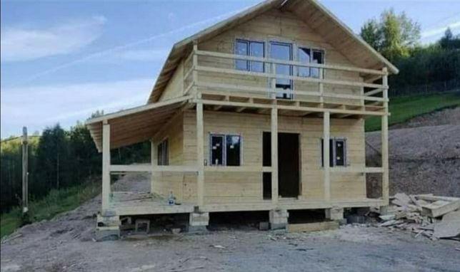 Casa pe structura metalica și lemn tip modulare