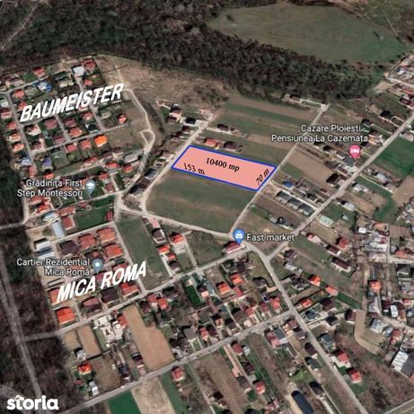 1 ha teren intravilan Bucov, Baumeister, Mica Roma