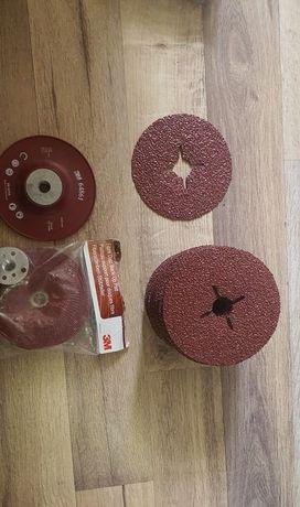 Suport disc abraziv Ø125mm + discuri abrazive 3M