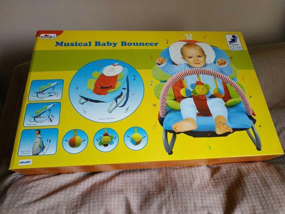 Бебешки музикален шезлонг Чиполино-нов