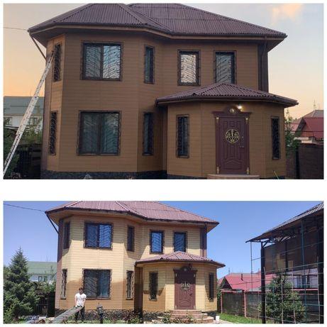 Красим Фасад, дома, забор, Ворота, крыши, бетон, покраска