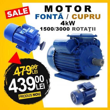 Motor 4kW - 1500 / 3000 RPM / CUPRU - Carcasa FONTA / Ax 24mm
