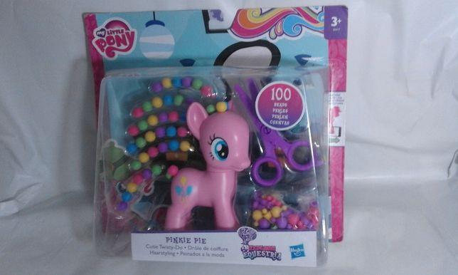 Set nou ponei dimens. medie Pinkie Pie cu par ondulat B5417 Hasbro MLP