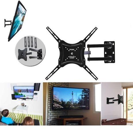 Стойка за телевизор на стена с универсален захват и подвижно рамо