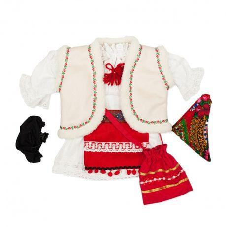 Costum popular fete iarna   national copii   traditional pentru botez