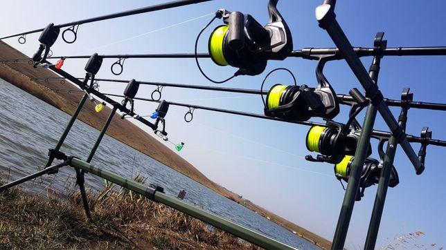 Pachet pescuit complet lanseta mulineta rod pod swinger senzor guta