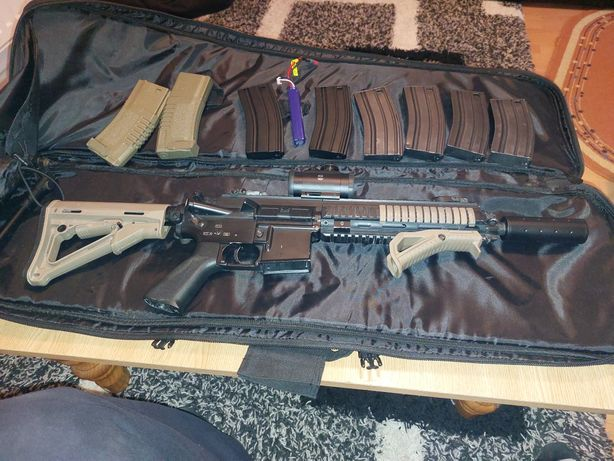 Replica airsoft HK 416 AGM pachet complet