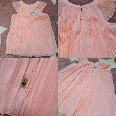Празнична официална рокля рожден ден кръщене 9-12м.